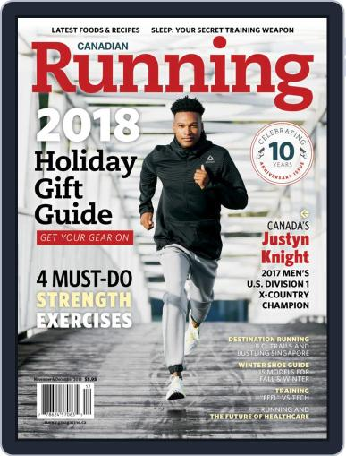 Canadian Running (Digital) November 1st, 2018 Issue Cover