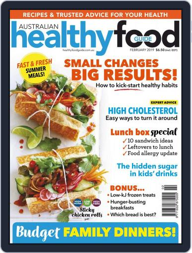Healthy Food Guide (Digital) February 1st, 2019 Issue Cover