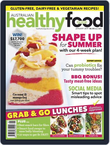 Healthy Food Guide (Digital) January 1st, 2019 Issue Cover