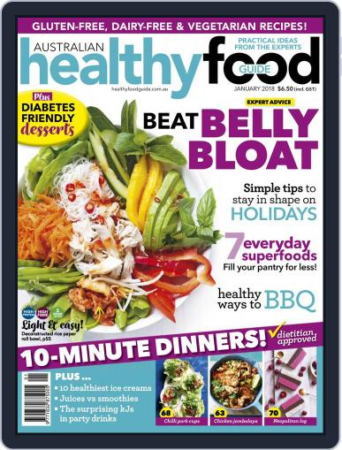 Healthy Food Guide (Digital) January 1st, 2018 Issue Cover
