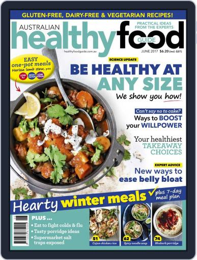 Healthy Food Guide (Digital) June 1st, 2017 Issue Cover