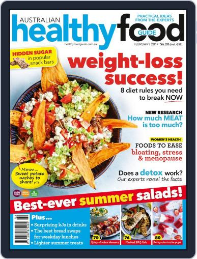 Healthy Food Guide (Digital) February 1st, 2017 Issue Cover
