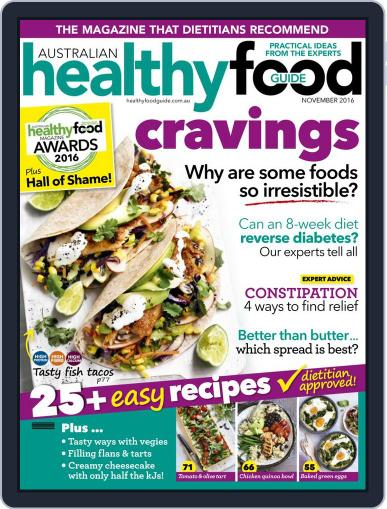 Healthy Food Guide (Digital) November 1st, 2016 Issue Cover