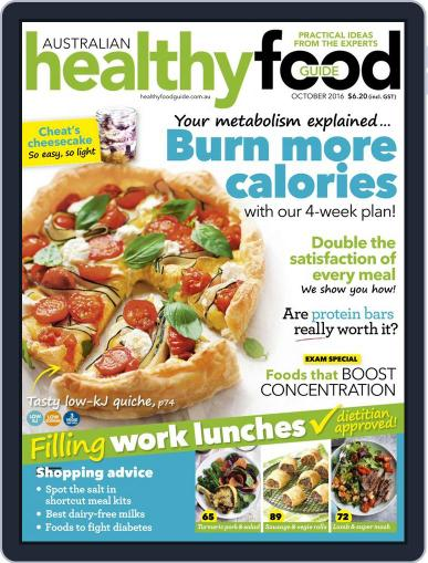 Healthy Food Guide (Digital) October 1st, 2016 Issue Cover