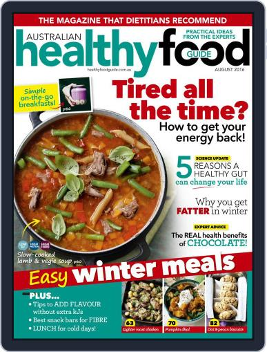 Healthy Food Guide (Digital) July 17th, 2016 Issue Cover
