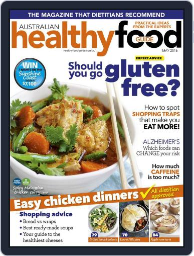 Healthy Food Guide (Digital) April 17th, 2016 Issue Cover
