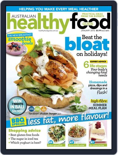 Healthy Food Guide (Digital) January 1st, 2016 Issue Cover