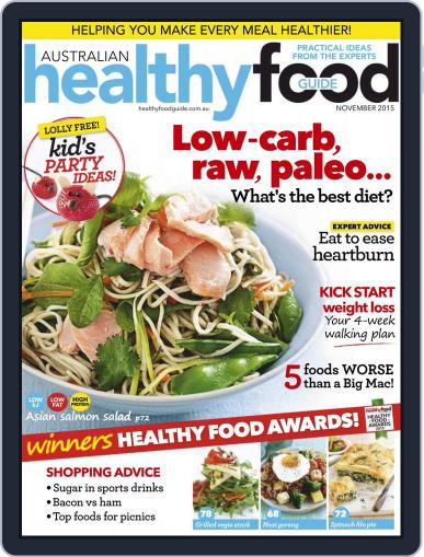 Healthy Food Guide (Digital) November 1st, 2015 Issue Cover