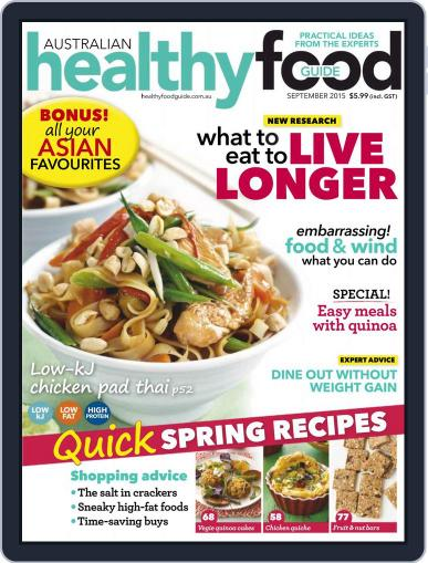 Healthy Food Guide (Digital) September 1st, 2015 Issue Cover