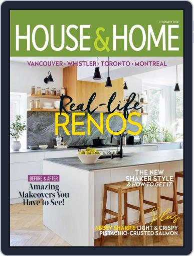 House & Home February 1st, 2020 Digital Back Issue Cover