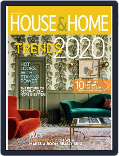 House & Home January 1st, 2020 Digital Back Issue Cover