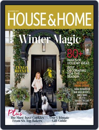 House & Home November 1st, 2019 Digital Back Issue Cover
