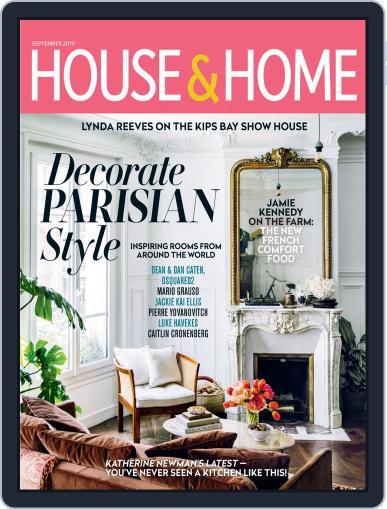 House & Home September 1st, 2019 Digital Back Issue Cover