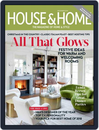 House & Home (Digital) December 1st, 2018 Issue Cover