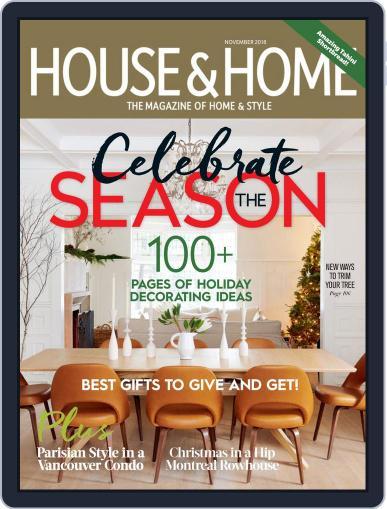House & Home (Digital) November 1st, 2018 Issue Cover