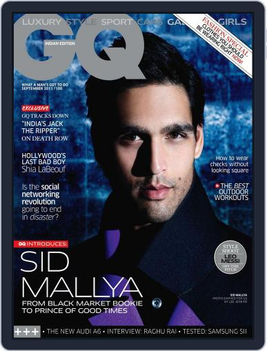 GQ India (Digital) September 7th, 2011 Issue Cover