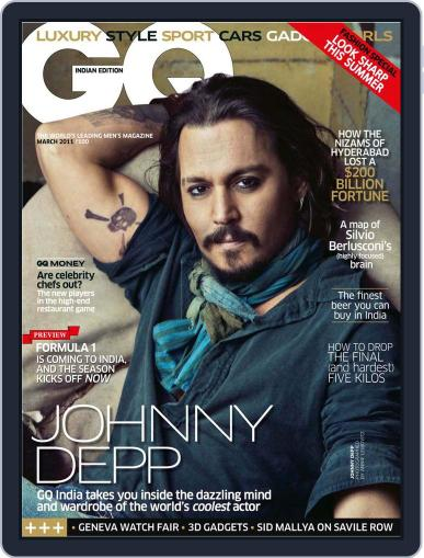GQ India (Digital) March 12th, 2011 Issue Cover