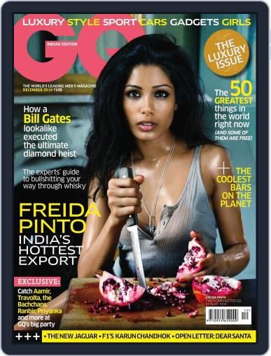 GQ India (Digital) December 14th, 2010 Issue Cover