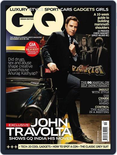 GQ India (Digital) November 10th, 2010 Issue Cover