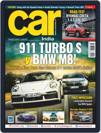Car India June 1st, 2020 Digital Back Issue Cover