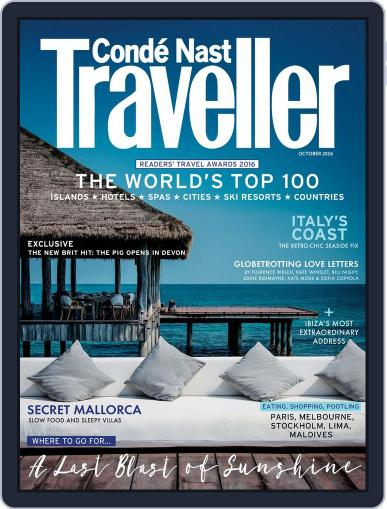 Conde Nast Traveller UK (Digital) October 1st, 2016 Issue Cover