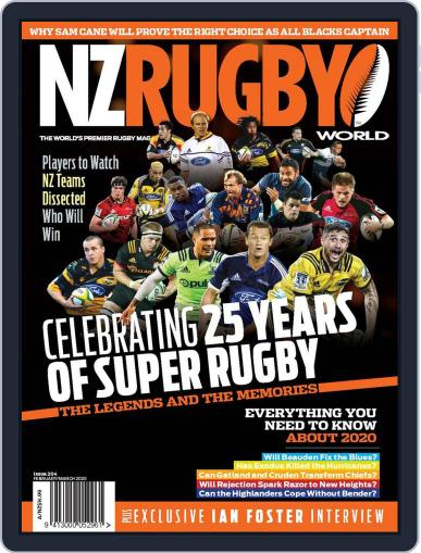 NZ Rugby World February 1st, 2020 Digital Back Issue Cover