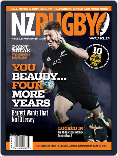 NZ Rugby World August 1st, 2019 Digital Back Issue Cover