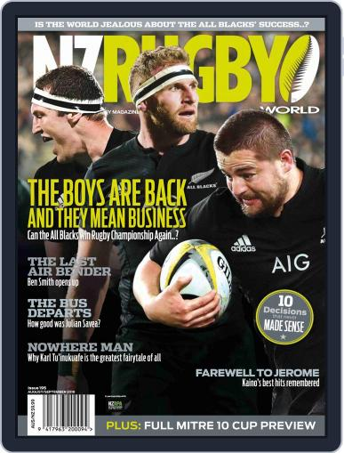 NZ Rugby World August 1st, 2018 Digital Back Issue Cover