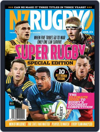 NZ Rugby World (Digital) February 1st, 2017 Issue Cover