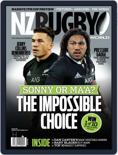 NZ Rugby World July 9th, 2015 Digital Back Issue Cover