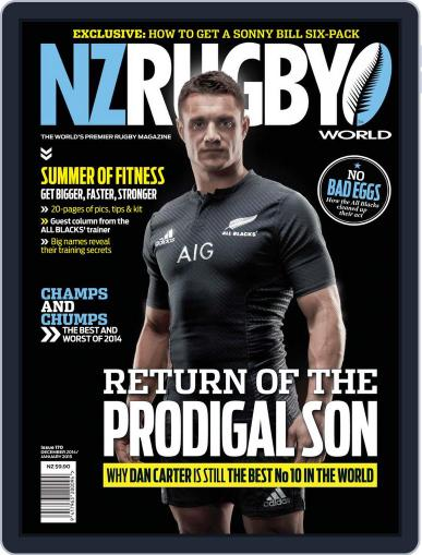 NZ Rugby World December 4th, 2014 Digital Back Issue Cover