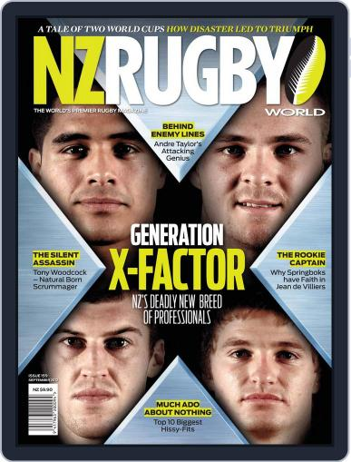 NZ Rugby World September 2nd, 2012 Digital Back Issue Cover