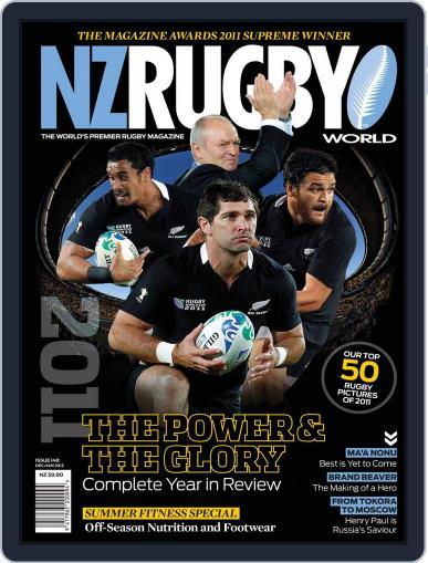NZ Rugby World December 7th, 2011 Digital Back Issue Cover