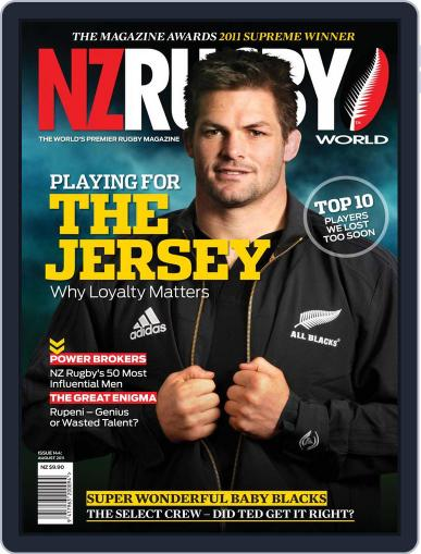 NZ Rugby World August 4th, 2011 Digital Back Issue Cover
