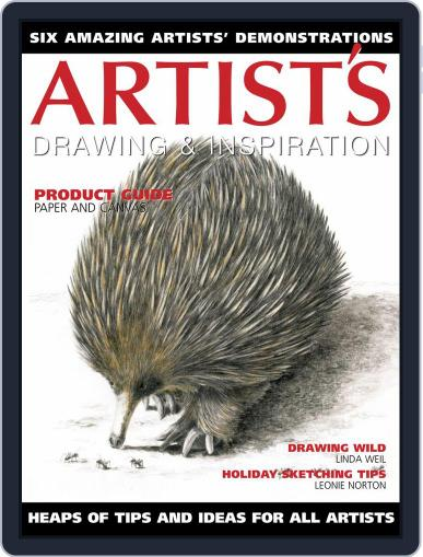 Artists Drawing and Inspiration January 1st, 2020 Digital Back Issue Cover
