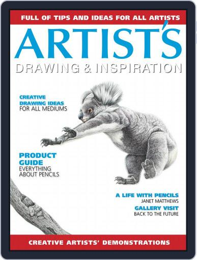 Artists Drawing and Inspiration July 1st, 2018 Digital Back Issue Cover