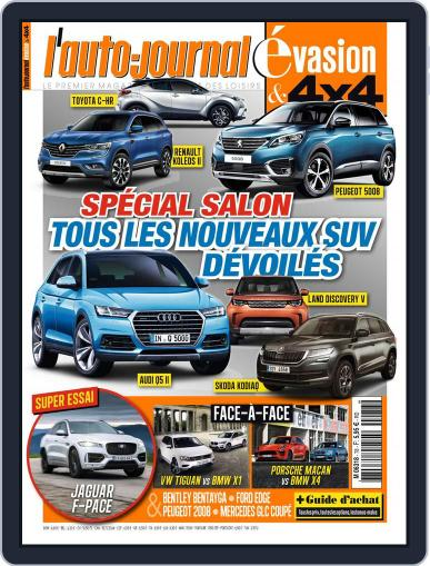 L'Auto-Journal 4x4 (Digital) September 1st, 2016 Issue Cover