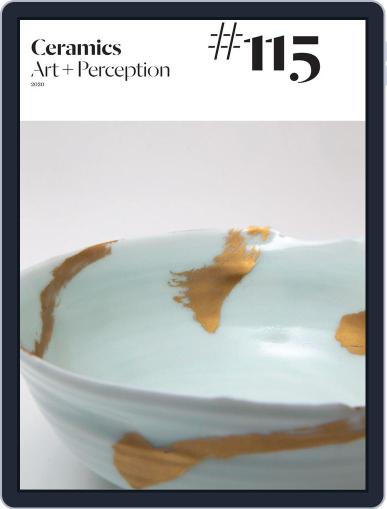 Ceramics: Art and Perception March 31st, 2020 Digital Back Issue Cover