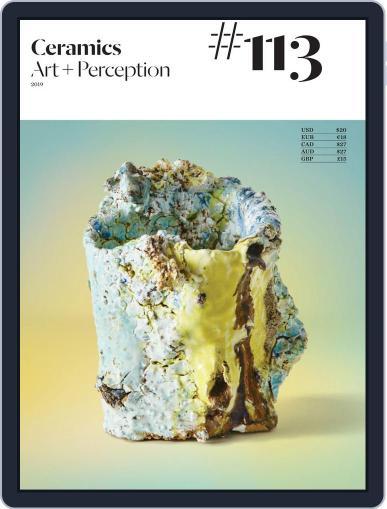 Ceramics: Art and Perception September 1st, 2019 Digital Back Issue Cover