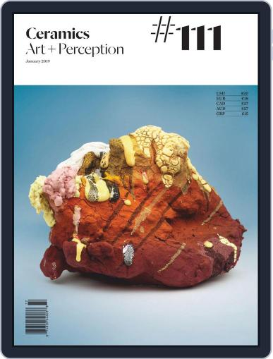 Ceramics: Art and Perception January 1st, 2019 Digital Back Issue Cover