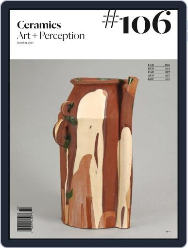 Ceramics: Art and Perception October 1st, 2017 Digital Back Issue Cover