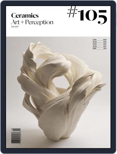 Ceramics: Art and Perception July 1st, 2017 Digital Back Issue Cover