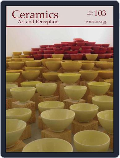 Ceramics: Art and Perception February 1st, 2016 Digital Back Issue Cover