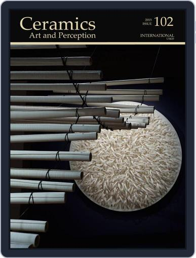 Ceramics: Art and Perception December 22nd, 2015 Digital Back Issue Cover