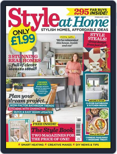 Style At Home United Kingdom (Digital) February 1st, 2020 Issue Cover