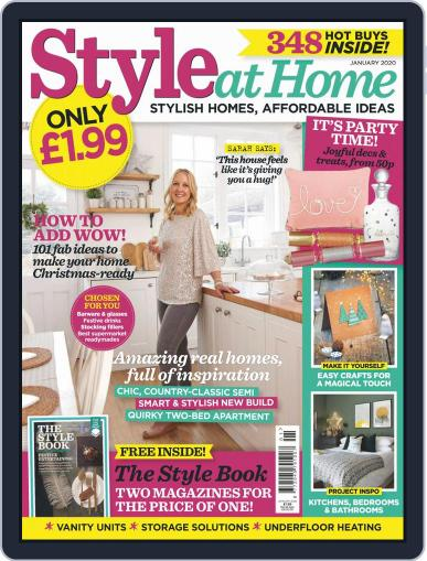 Style At Home United Kingdom (Digital) January 1st, 2020 Issue Cover