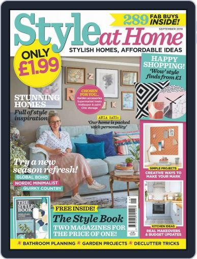 Style At Home United Kingdom (Digital) September 1st, 2019 Issue Cover