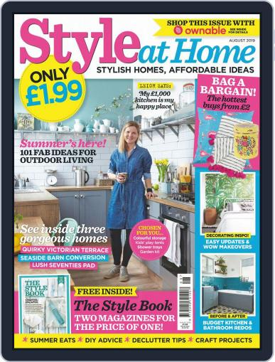 Style At Home United Kingdom (Digital) August 1st, 2019 Issue Cover