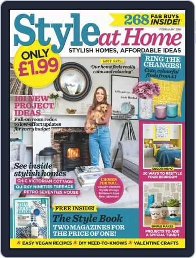 Style At Home United Kingdom (Digital) February 1st, 2019 Issue Cover