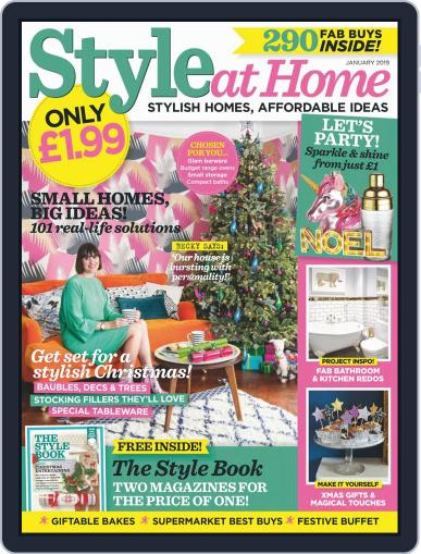 Style At Home United Kingdom (Digital) January 1st, 2019 Issue Cover